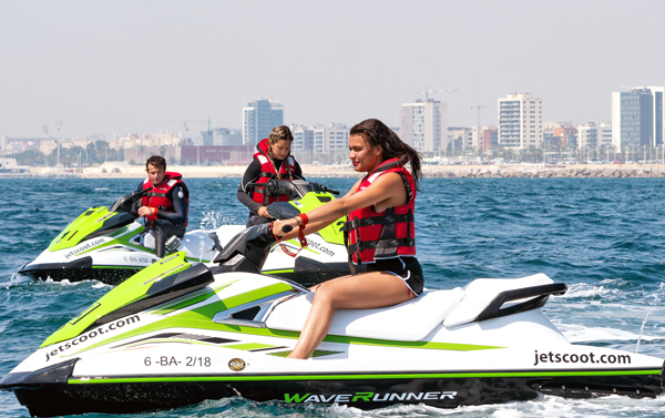 20 hours subscription jet ski with license Barcelona