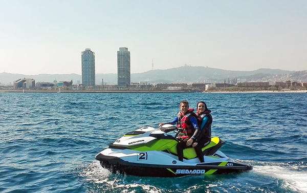May and June subscription jet ski with license Barcelona