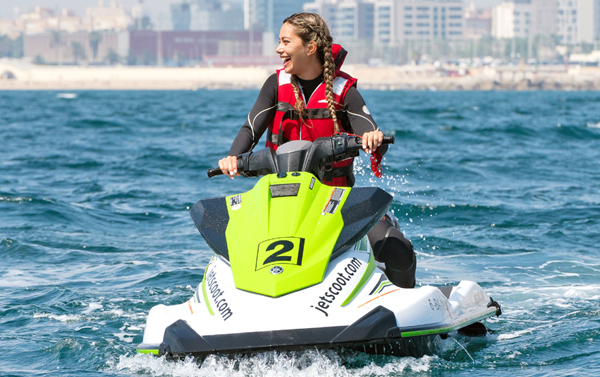 July subscription jet ski with license Barcelona