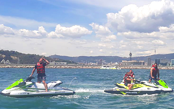 Premium August subscription jet ski with license Barcelona
