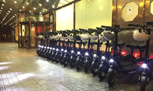 These electric scooters are ready for 30 people in Barcelona