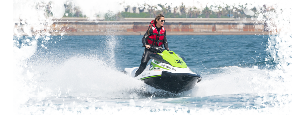 Jet Ski with license rental service Barcelona