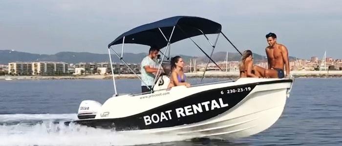 Louer un bateau à Barcelone avec JetScoot