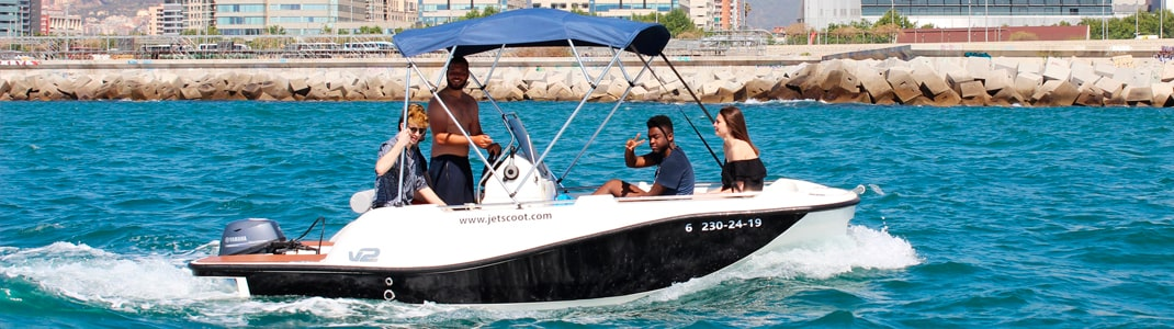 Rent a boat without license in Barcelona