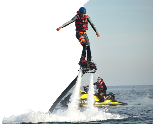 Fly with the Flyboard in Barcelona