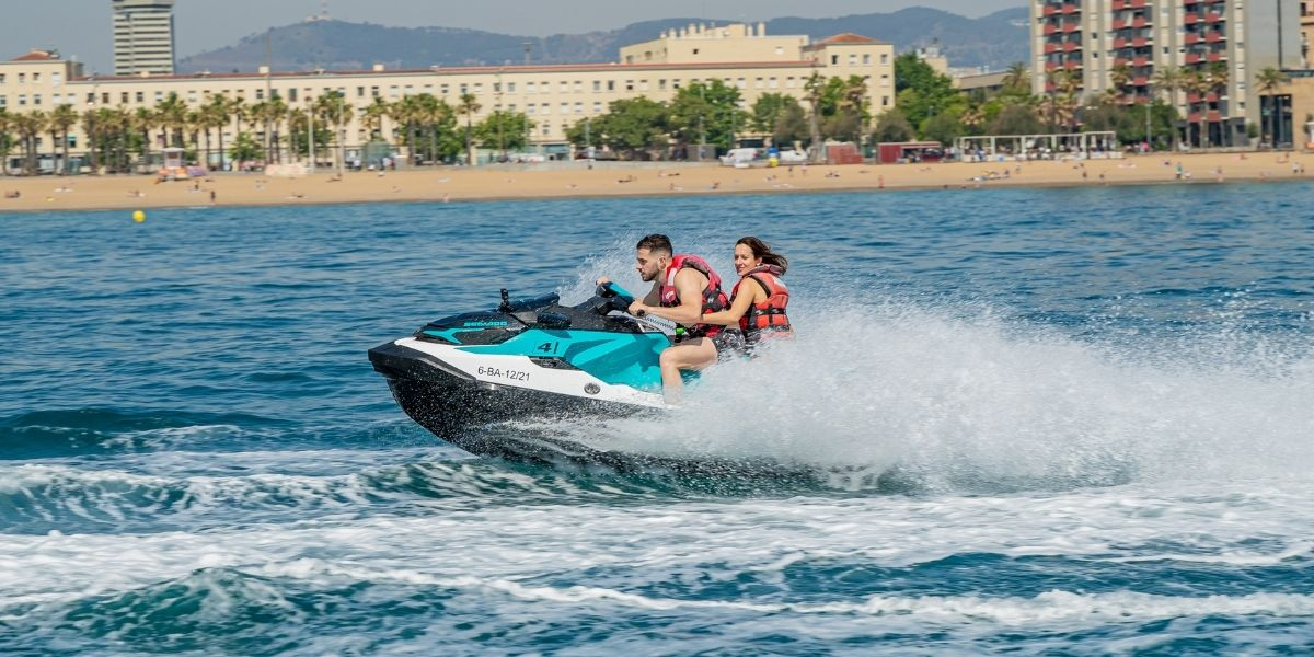 Jet Ski Barcelona with license rental service