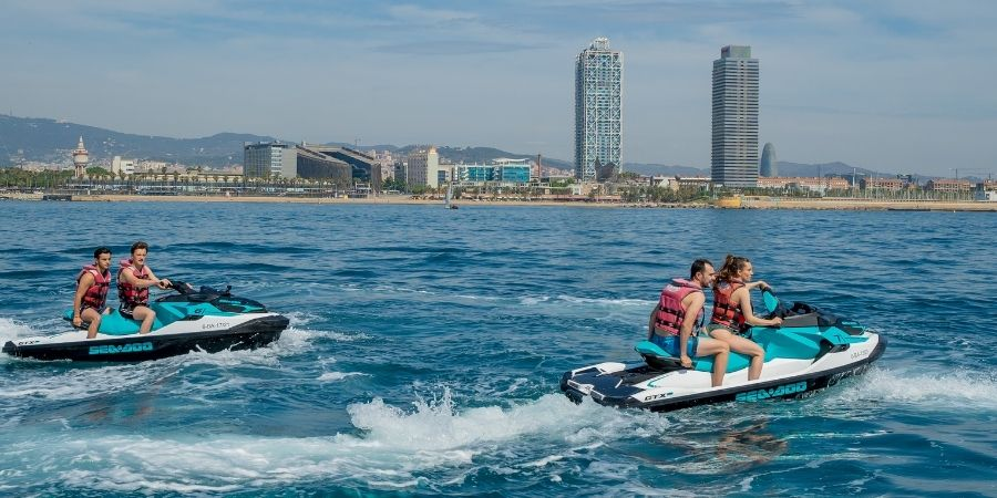 Visit the Skyline of Barcelona with this Jet Ski tour